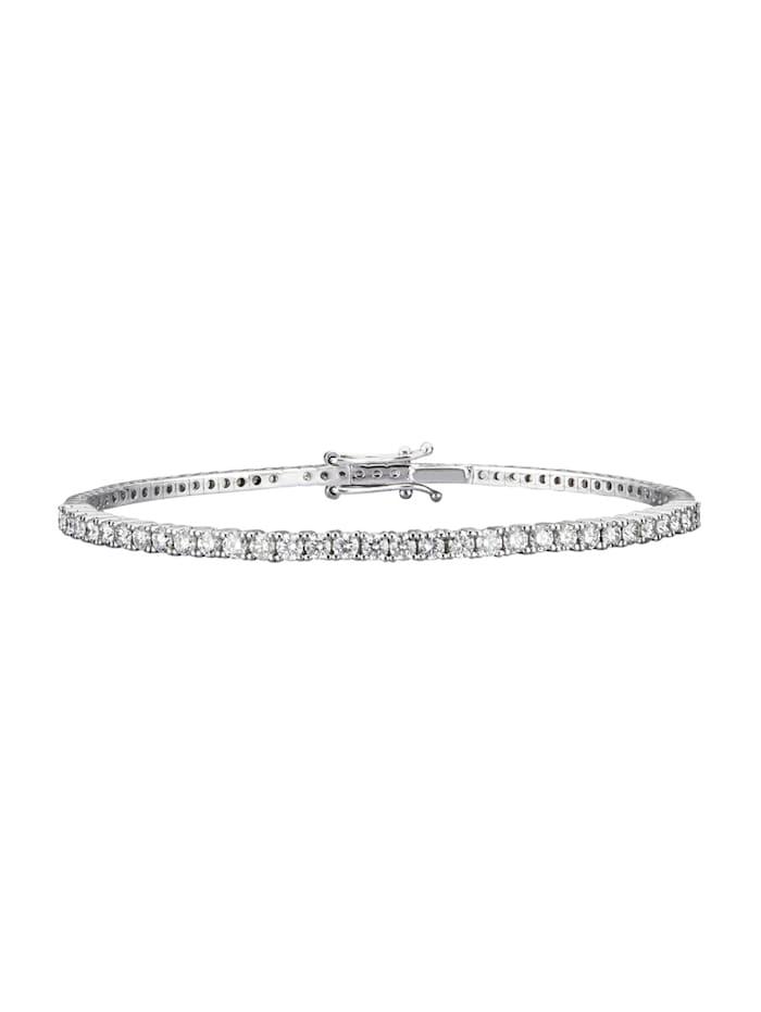 Diemer Diamant Tennis-Armreif mit Brillanten ca. 1,50 ct., Weiß