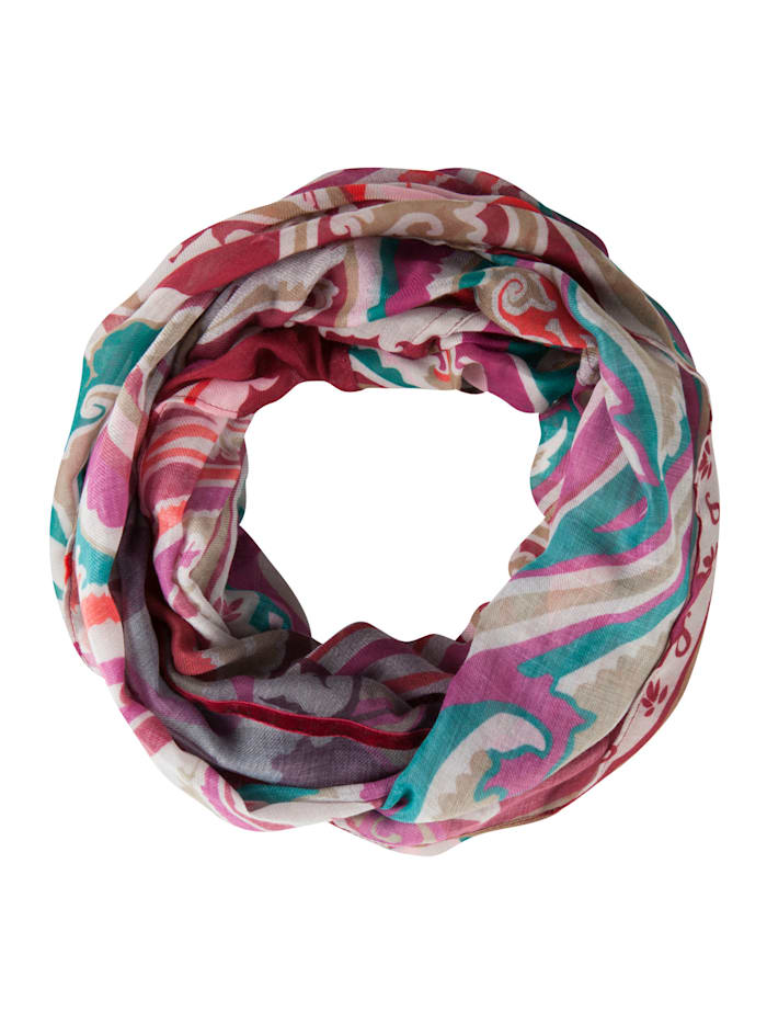 Codello Softer Paisley-Loop aus recyceltem Polyester, bordeaux