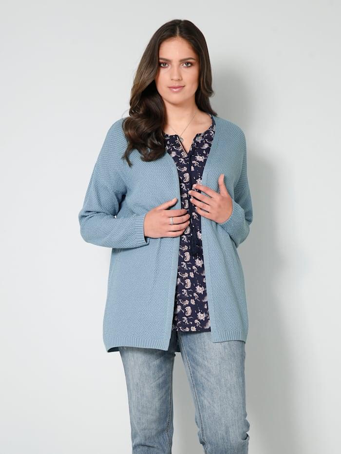 Janet & Joyce Vest zonder sluiting, Jeansblauw
