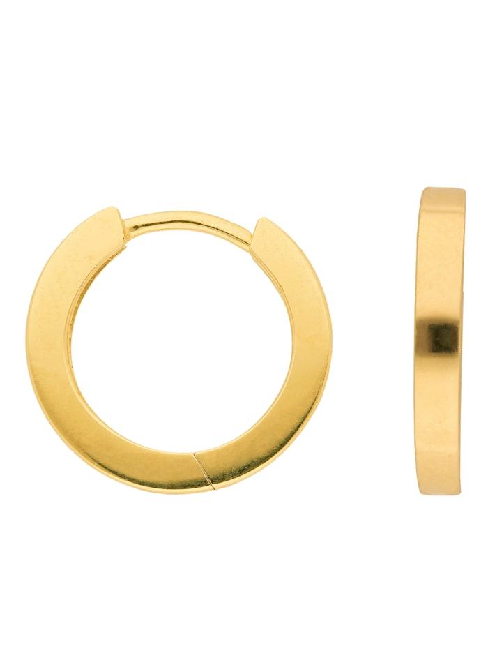 1001 Diamonds 1001 Diamonds Damen Goldschmuck 585 Gold Ohrringe / Creolen Ø 15,2 mm, gold