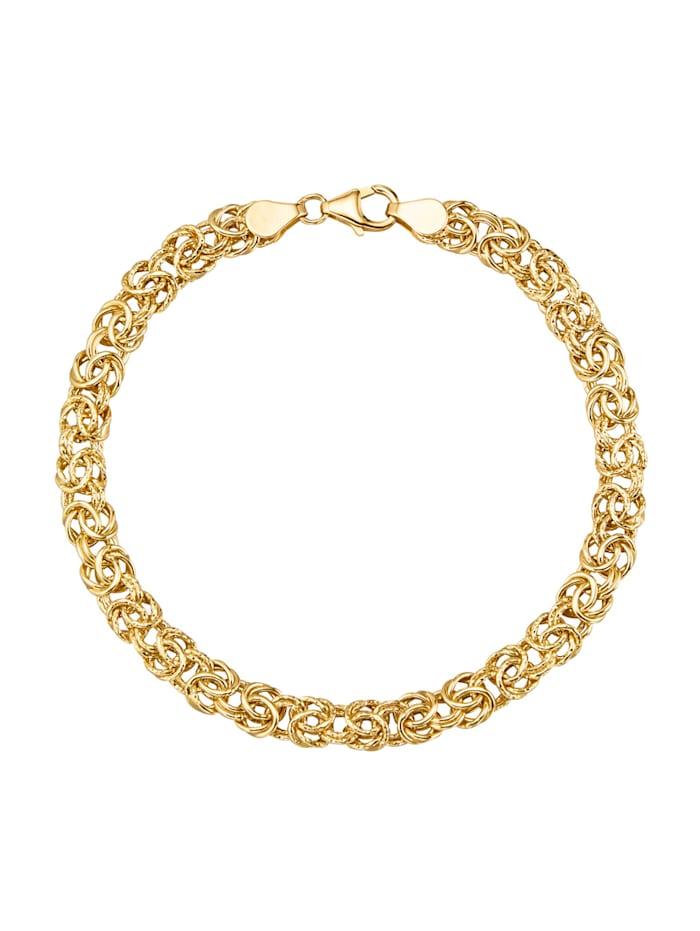 Diemer Gold Bracelet maille royale en or jaune 585, Coloris or jaune