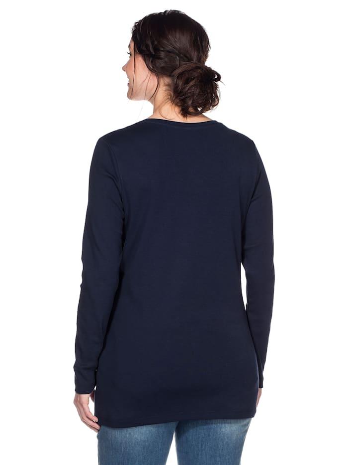 Sheego Shirt mit Serafinokragen