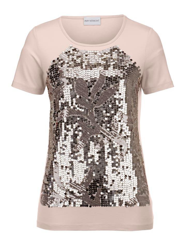Shirt mit paillettenbesetztem Vorderteil