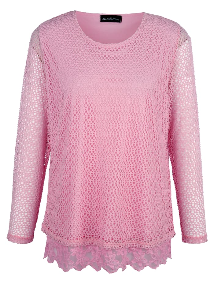 Shirt rundum aus modischem Netzstoff