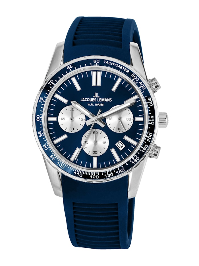 Jacques Lemans Unisex-Uhr Chronograph Serie: Liverpool, Kollektion: Sport 1-2059C, Dunkelblau