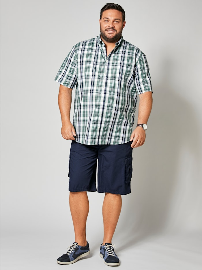 Kurzarmhemd mit modischem Karomuster