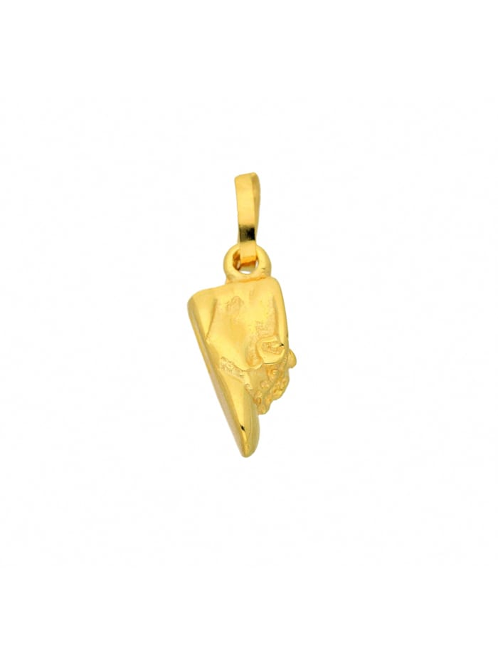 1001 Diamonds Damen Goldschmuck 333 Gold Anhänger Babyschuh, gold