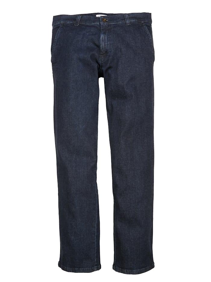 John F. Gee Jean sans pinces poches biais, Dark blue