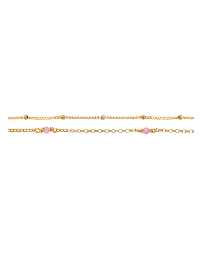 Halskette Layer Kugeln Rosa Quarz Perlen 925 Silber