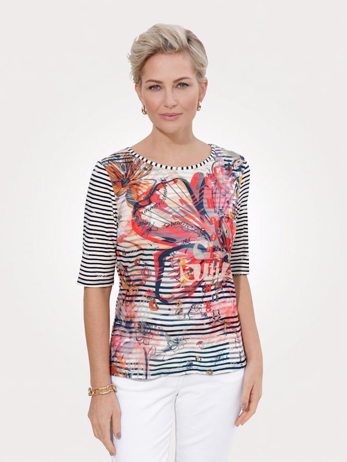 Barbara Lebek Shirt, Marineblau/Orange