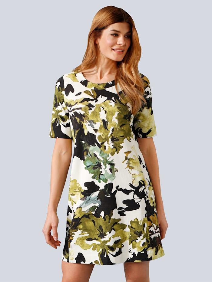 MARGITTES Kleid im modischen allover Druck, Khaki