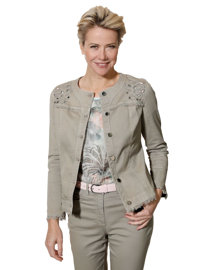 Jeansjacke mit modernen Details