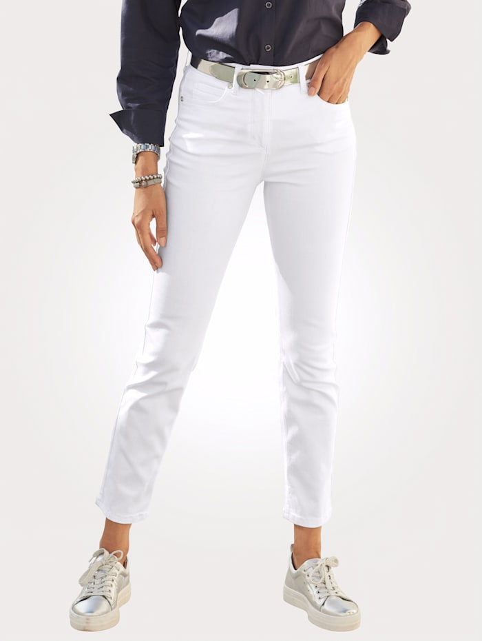MONA Jeans in 5-pocketmodel, Wit