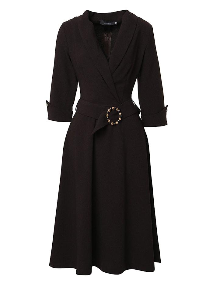 Madam-T Wickelkleid Kleid Nensi, braun