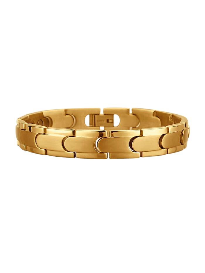Magnetic Balance Armband, Gelbgoldfarben