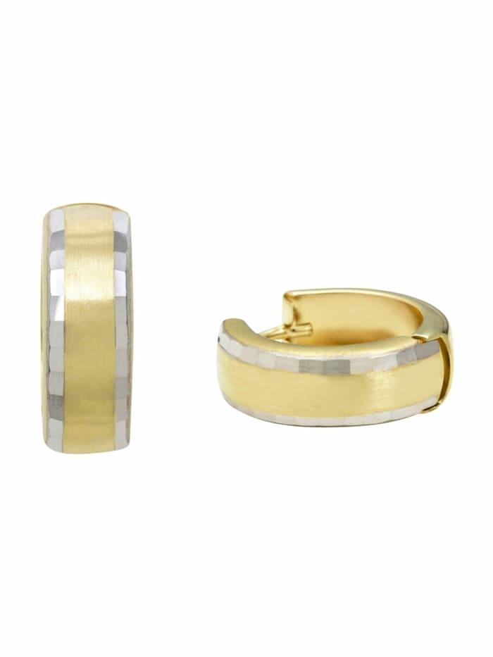 amor Creolen für Damen, Gold 375, Gold