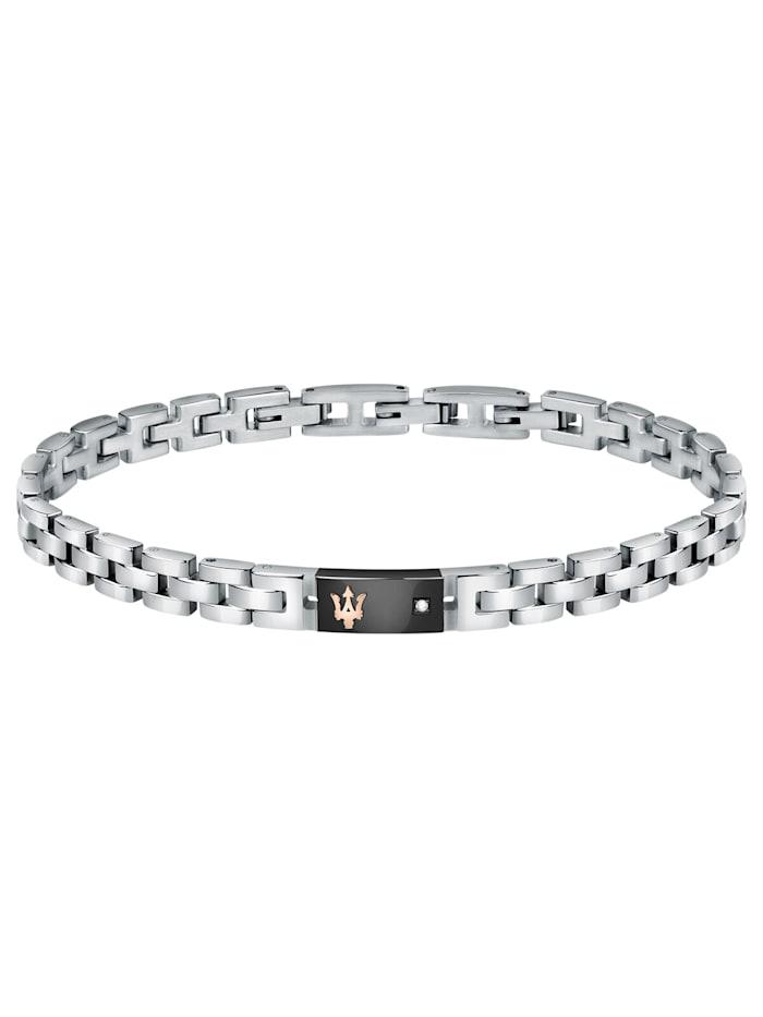 Maserati Herren-Armband Edelstahl, Silberfarben