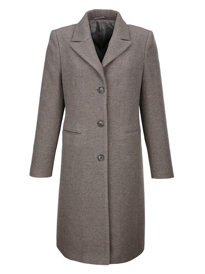 Dress In Wollmantel in edler Qualität, Taupe