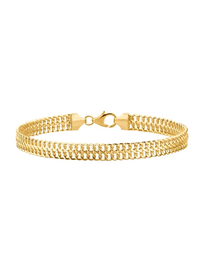 Amara Or Bracelet maille gourmette en or jaune 585, Coloris or jaune
