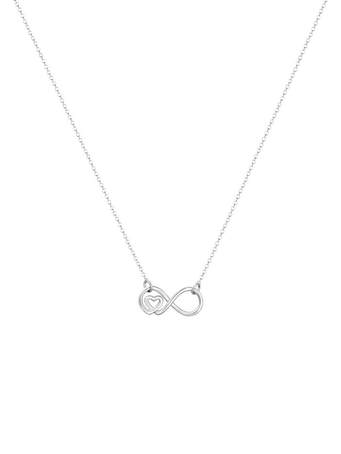 Halskette Infinity Unendlichkeit Herz Liebe 925Er Silber
