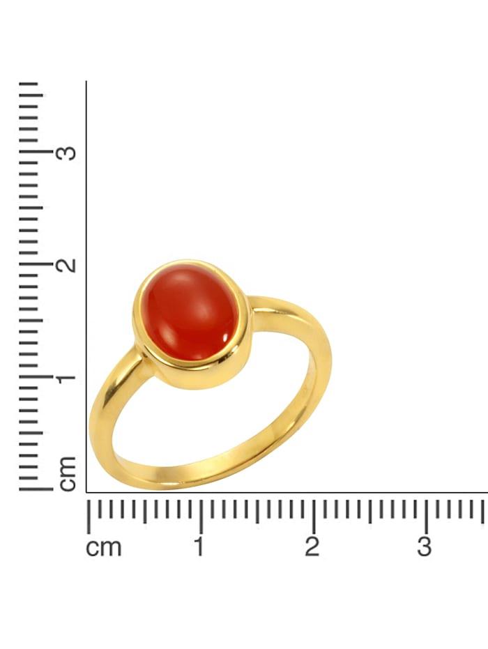 Ring 925/- Sterling Silber Carneol orange Glänzend 925/- Sterling Silber