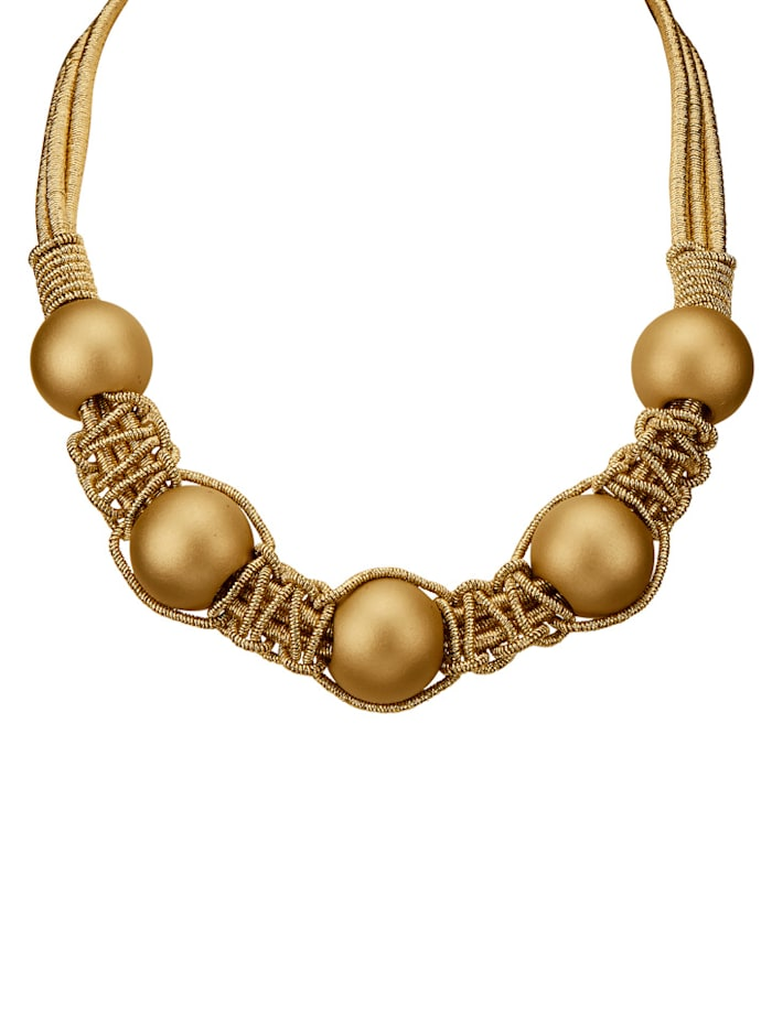 Collier 3rhg. goldfarben