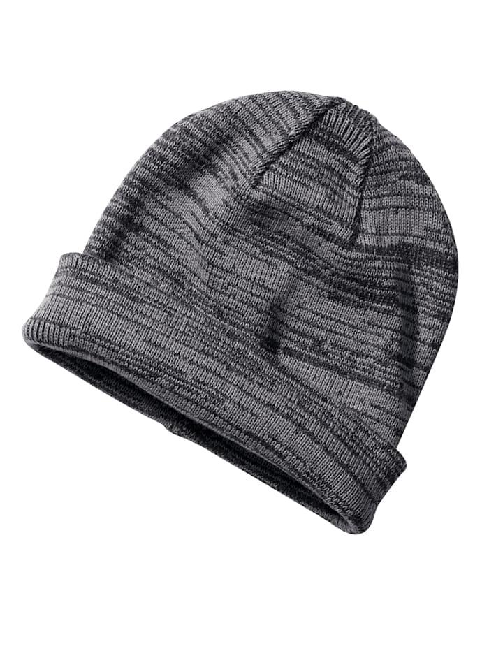 BABISTA Bonnet maille à large revers, noir/gris