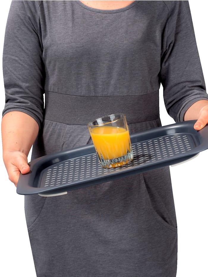 Wenko Anti-Rutsch-Tablett, grau