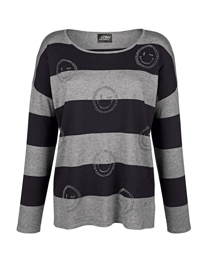 Pullover mit Strasssmileys