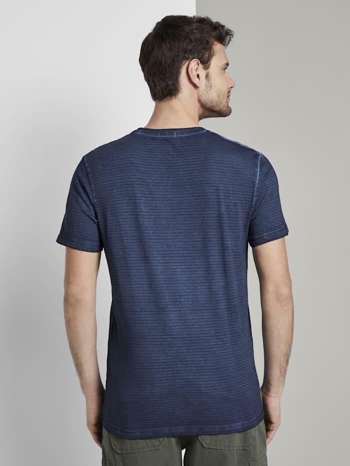 Gestreiftes T-Shirt mit NYC-Print