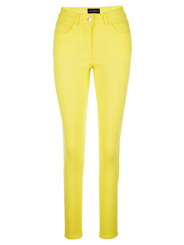 AMY VERMONT Jeans van elastisch materiaal, Geel