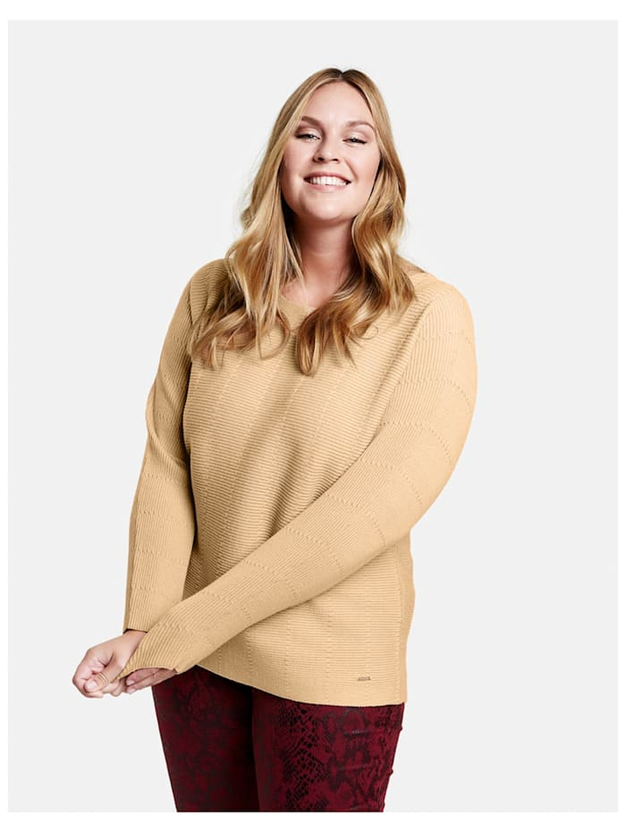 Pullover mit horizontalem Rippstrick