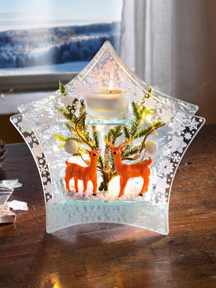 LED Deko Glas Teelichthalter