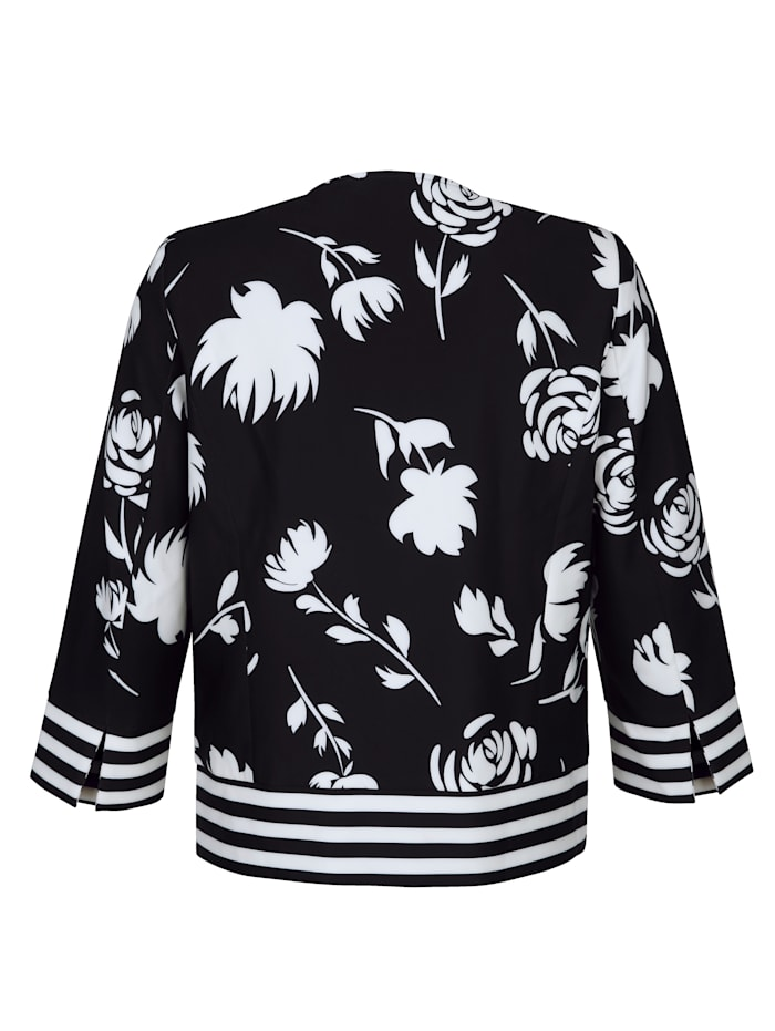 Kabátik s kvetinovou potlačou