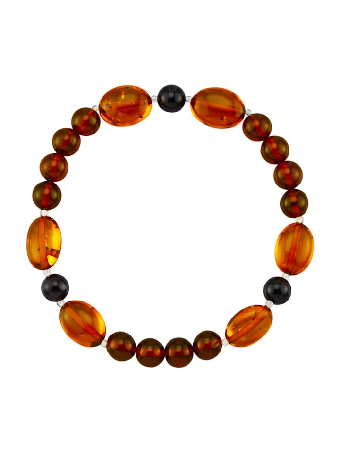 Bracelet Avec ambre, Marron