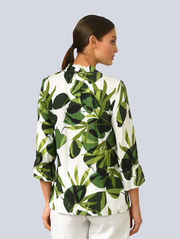 Bluse im Blätterdessin