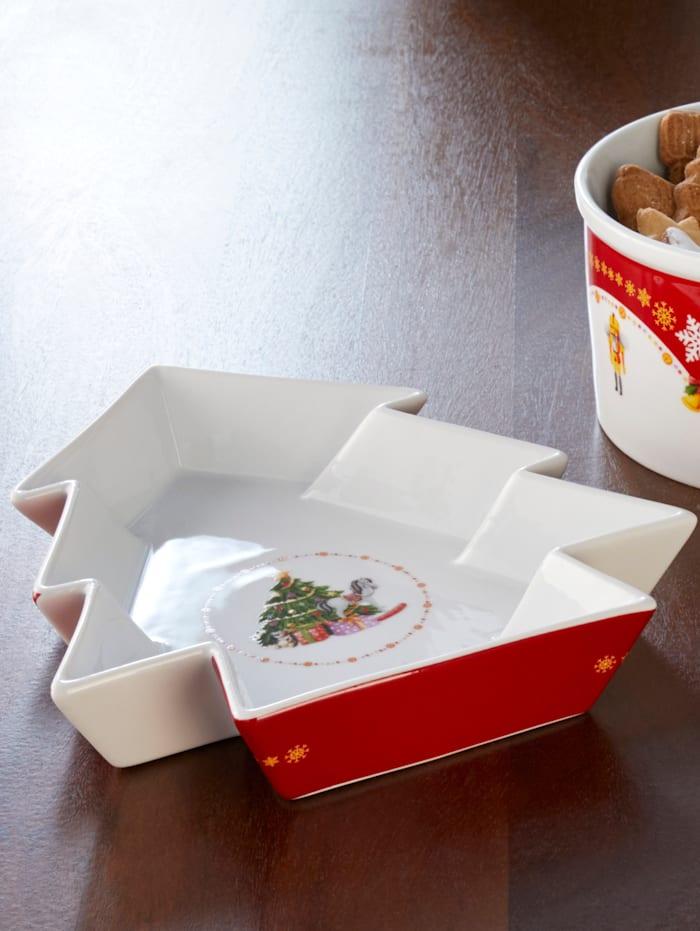 Van Well Vianočná miska na pečivo, multicolor