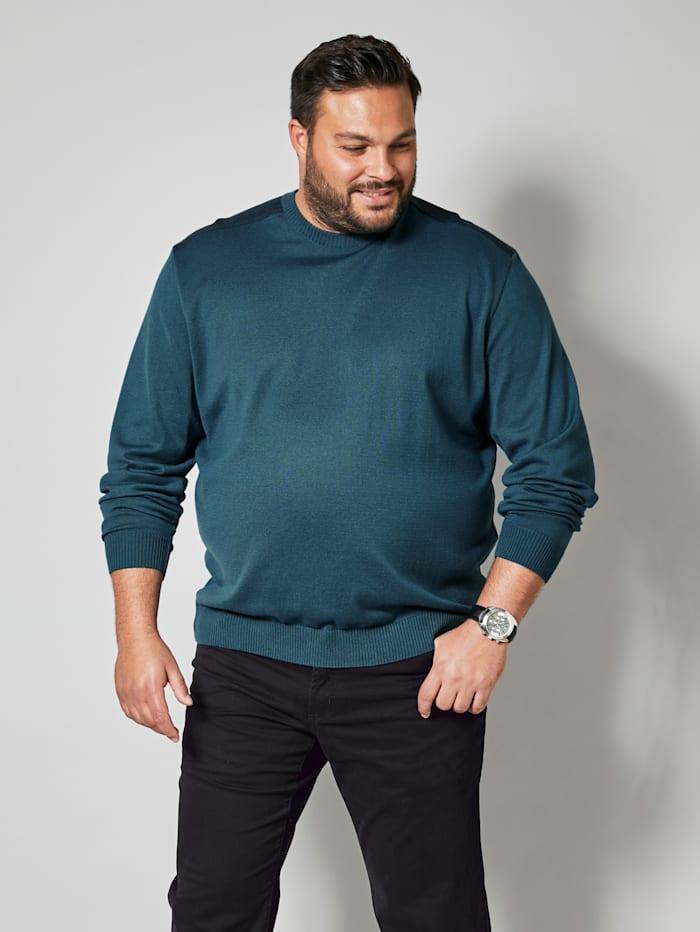 Men Plus Pullover Spezialschnitt, Petrol