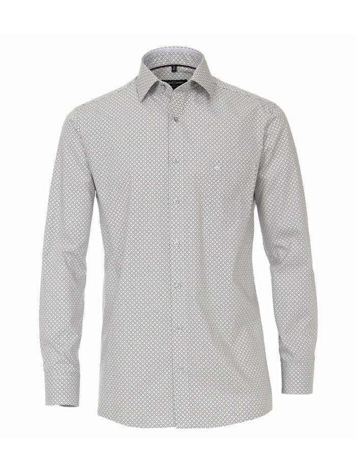 CASAMODA Hemd Print Comfort Fit, Braun