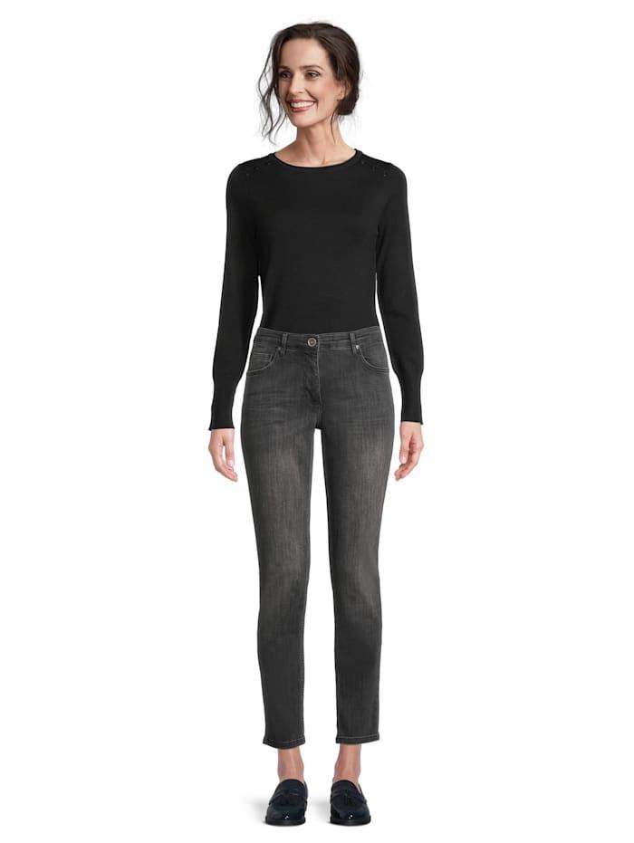 Betty Barclay Basic-Jeans mit Waschung Stone-Waschung, Dark Grey Used Denim