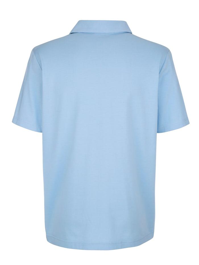 Poloshirt mit Kontrasteinsatz im Vorderteil