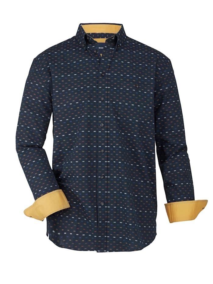 BABISTA Overhemd met ingeweven grafisch dessin, Marine