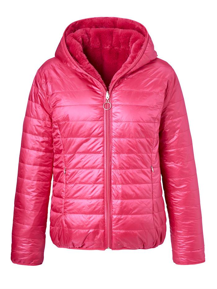 SIENNA Wendejacke mit Fake-Fur, pink