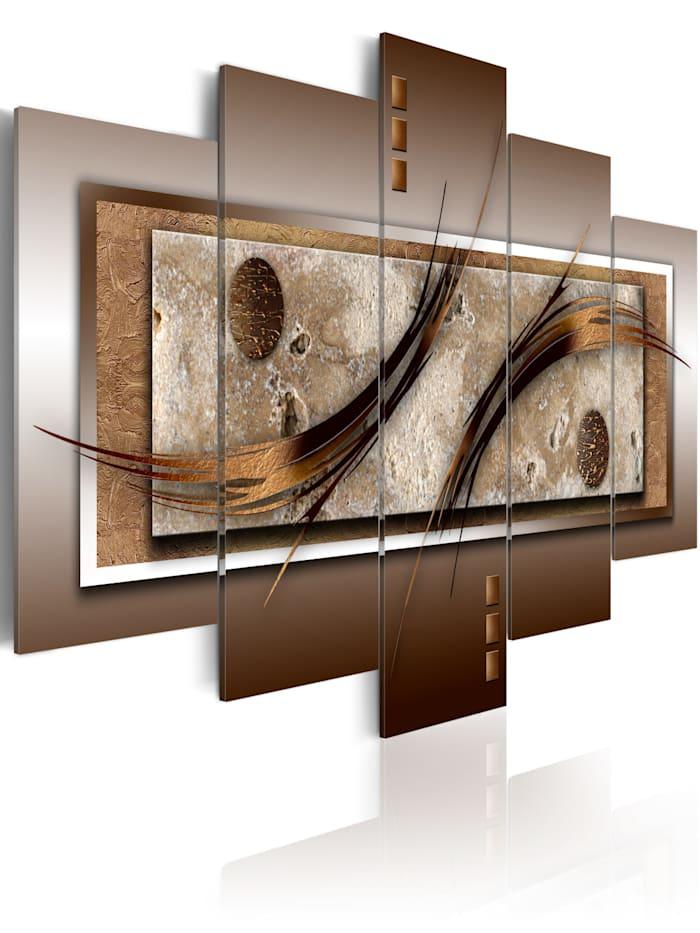 artgeist Wandbild Delikate Formen und warme Farben, Braun,Weiß,Beige