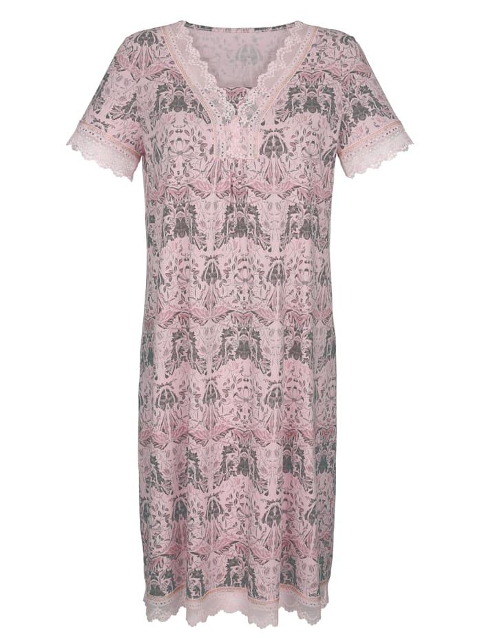 Nachthemd mit eleganten Spitzendetails