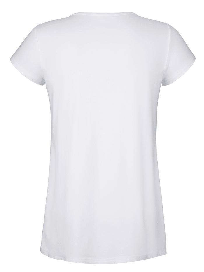 Shirt mit besticktem Vorderteil
