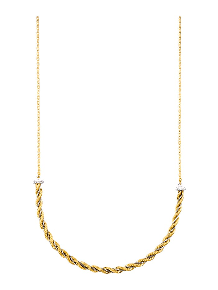 Collier in Gelbgold 375, Gelb