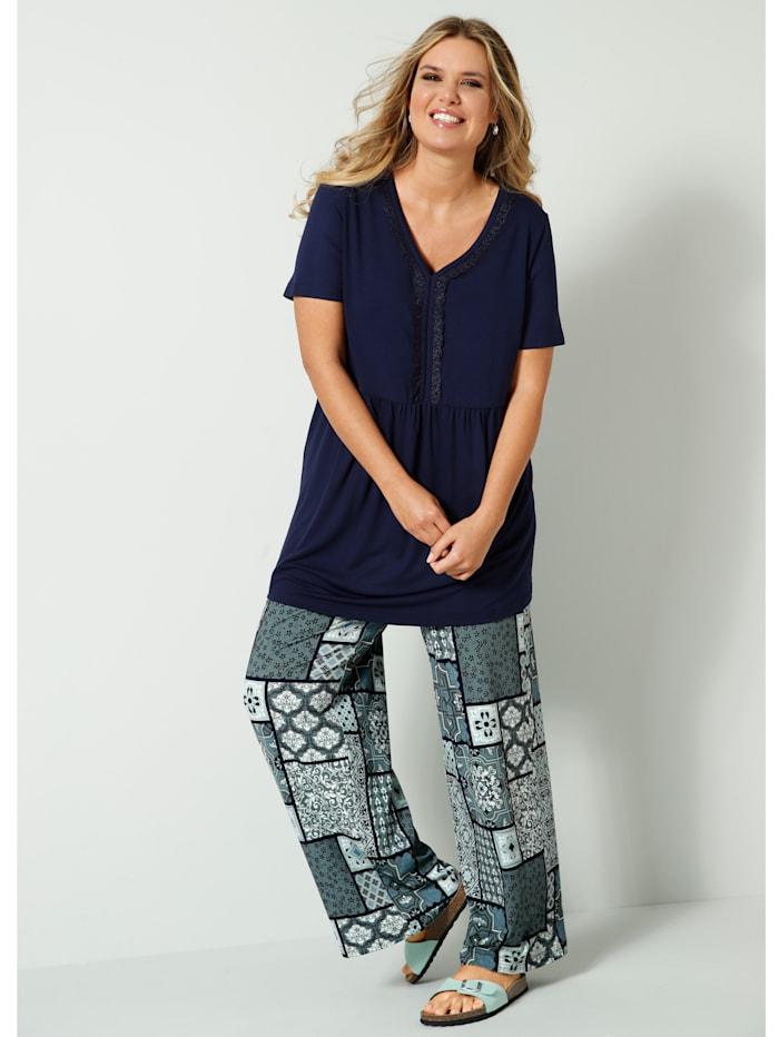 Pantalon en jersey à motif graphique