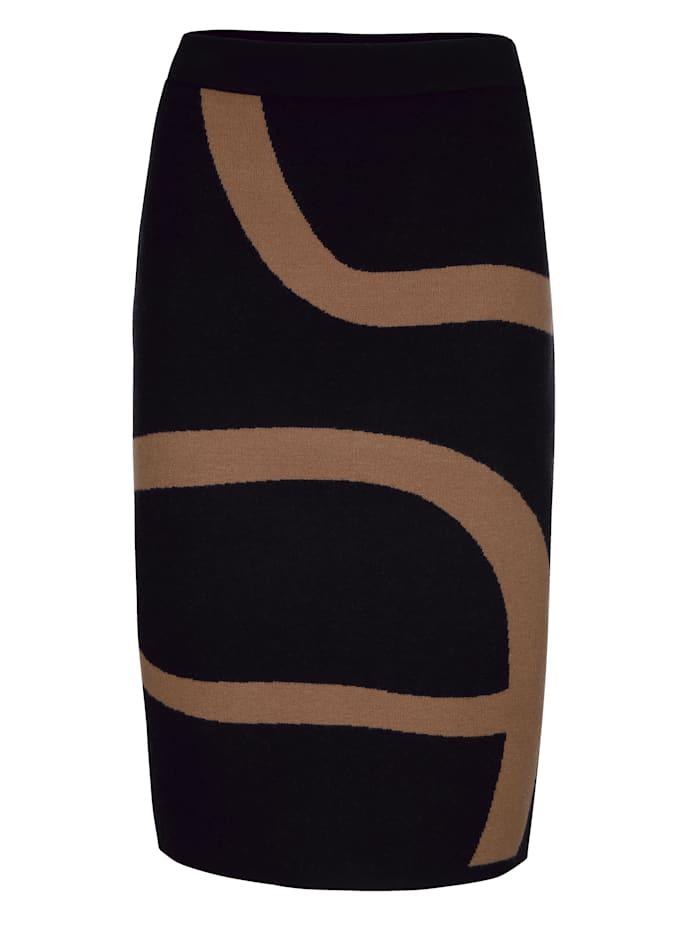 Strickrock im exklusiven Dessin nur bei Alba Moda erhältlich