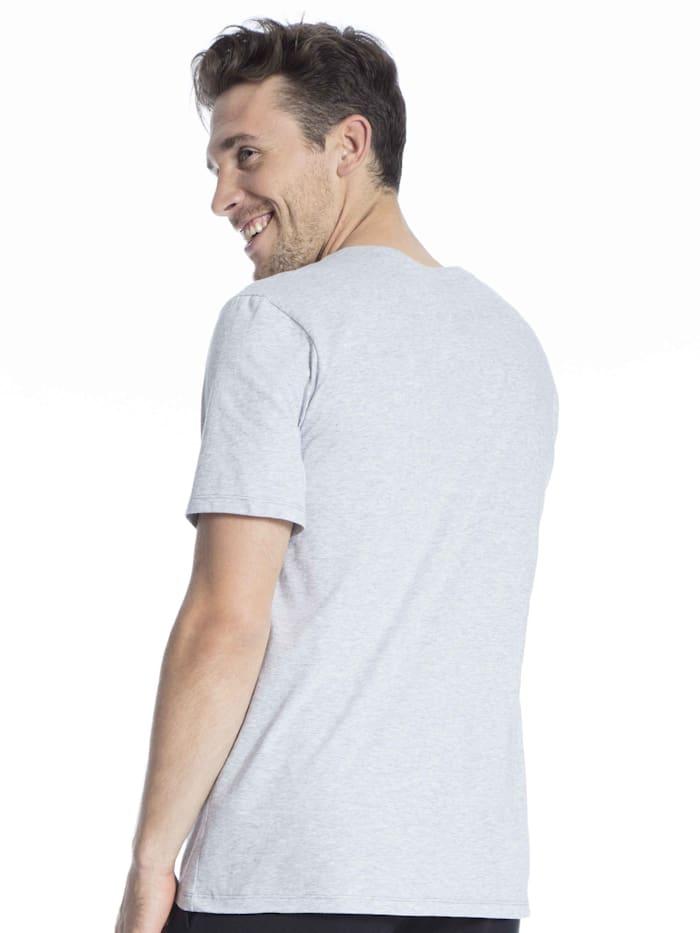 Kurzarm-Shirt mit V-Ausschnitt STANDARD 100 by OEKO-TEX zertifiziert